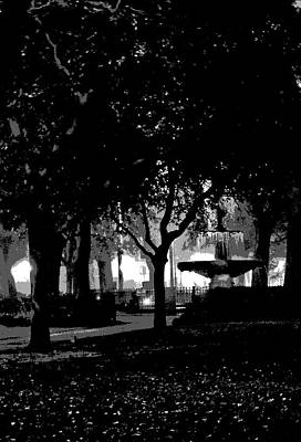 Bienville Square Fountain Posterized Print by Marian Bell