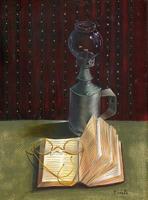 Ledger Lamp Painting - Bifocal Read by Doreta Y Boyd