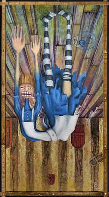 Inverted Painting - Big Alice Little Door by Kelly Jade King