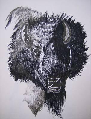 Big Bad Buffalo Print by Leslie Manley