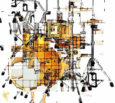 Cymbal Mixed Media - Big Beats by Russell Pierce