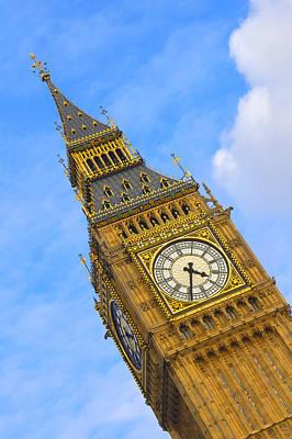 Big Ben Digital Art - Big Ben - England by Mike McGlothlen