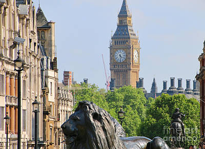 Satue Photograph - Big Ben From Trafalgar Square 5247 by Jack Schultz