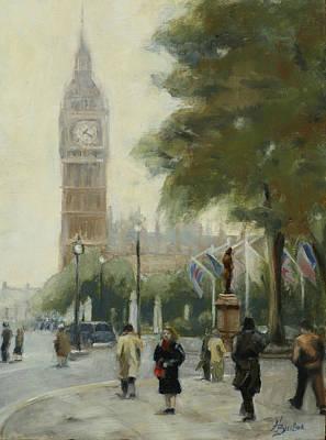 Heather Burton Painting - Big Ben by Heather Burton