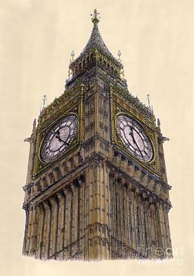 Big Ben Drawing - Big Ben London by Gerald Blaikie