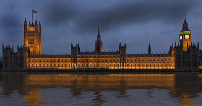 Catherine Middleton Photograph - Big Ben Parliament London Digital Painting by Matthew Gibson