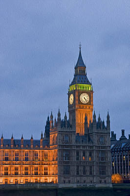 Kate Middleton Photograph - Big Ben Parliament Wesminster London Digital Painting by Matthew Gibson