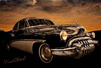 Big Black Buick Print by Chas Sinklier