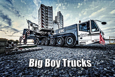 Big Boy Trucks Print by Everet Regal