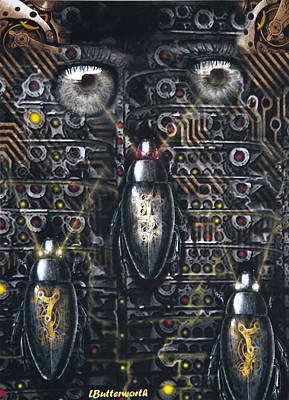 Big Brother Is Watching Print by Larry Butterworth