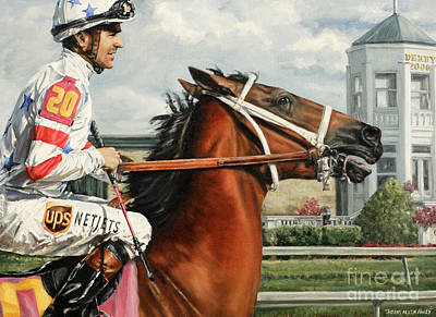 Kentucky Painting - Big Brown At Churchill by Thomas Allen Pauly