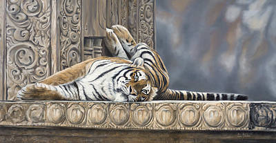 Bengal Tiger Painting - Big Cat by Lucie Bilodeau