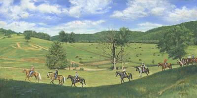 Big Creek Trail Ride Print by Don  Langeneckert