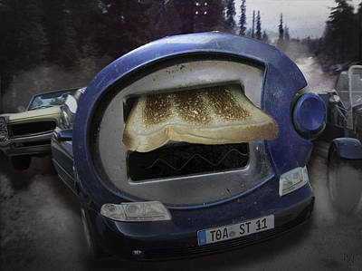 Toaster Digital Art - Big Fat Mouth by Nafets Nuarb