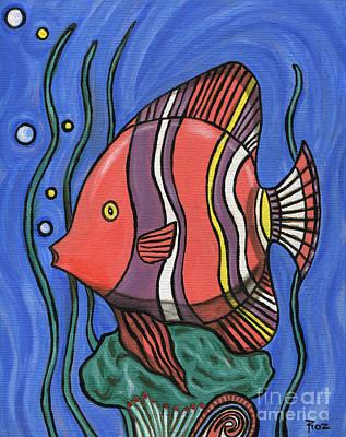 Roz Barron Abellera Painting - Big Fish by Roz Abellera Art