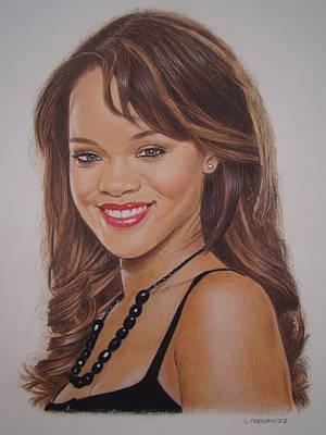 Rihanna Drawing - Big Hair by Gary Fernandez
