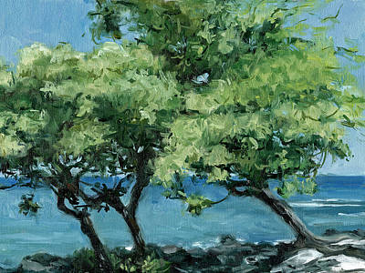 Haleiwa Painting - Big Island Trees by Stacy Vosberg