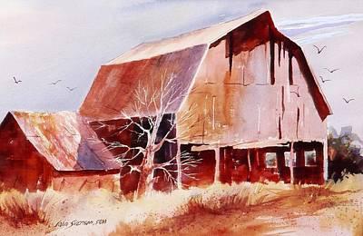 Barn Painting - Big Jim's Barn by John  Svenson