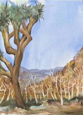 Big Joshua Tree Print by Lynne Bolwell
