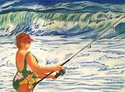 Big Momma Fishin' Original by Frank Giordano