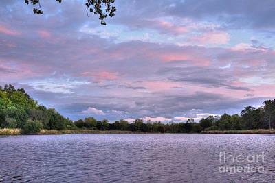 Branches Photograph - Big Pink Sky On The Rock River by Deborah Smolinske