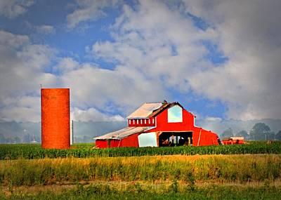 Big Red Barn Print by Marty Koch