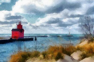 Sandblasting Photograph - Big Red Big Wind 2.0 by Michelle Calkins