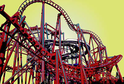 Big Red The Roller Coaster Original by James Rabiolo