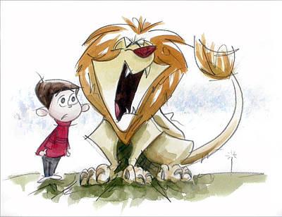 Big Roar Lion Print by Andrew Fling