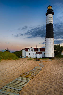 Wall Photograph - Big Sable Point Lighthouse by Sebastian Musial