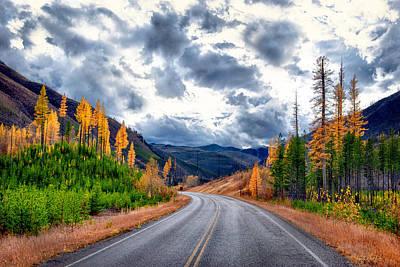 Montana Photograph - Big Sky Highway by Renee Sullivan