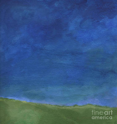 Grass Painting - Big Sky by Linda Woods