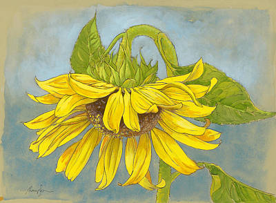 Sunflowers Mixed Media - Big Sunflower by Tracie Thompson