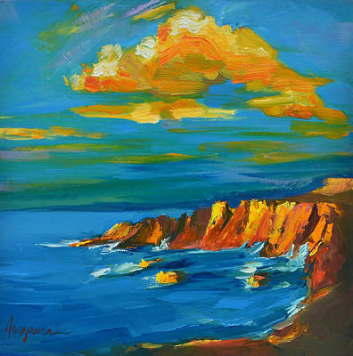 Big Sur At The West Coast Of California Print by Patricia Awapara