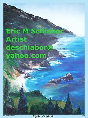Big Sur Califorina Print by Eric  Schiabor
