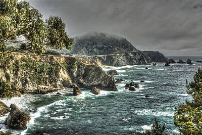 Tree Photograph - Big Sur Coast And Bixby Bridge 2 by SC Heffner
