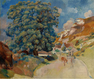 Pierre-auguste Renoir Painting - Big Tree Near The Road by Pierre-Auguste Renoir
