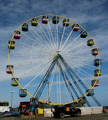 Seaside Heights Digital Art - Big Wheel by Sam De Palma