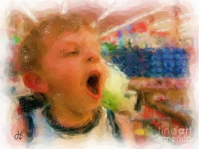 Walmart Painting - Big Yawn 942 20140902 by Julie Knapp