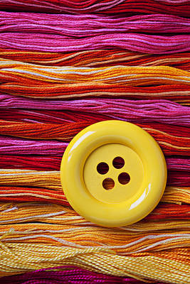 Big Yellow Button  Print by Garry Gay