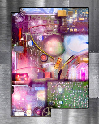 Bigger On The Inside - Techno Magic Print by Mark E Tisdale