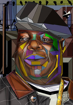 Rapper Painting - Biggie Living In Color by Reggie Duffie