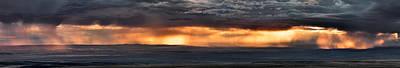 Bighorn Basin Storm Panoramic Print by Leland D Howard