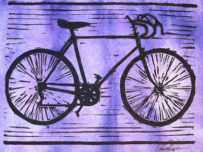 Austin Drawing - Bike 8 by William Cauthern