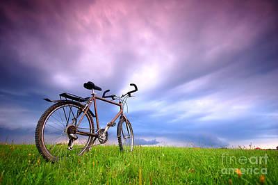 Copy Photograph - Bike Background by Michal Bednarek