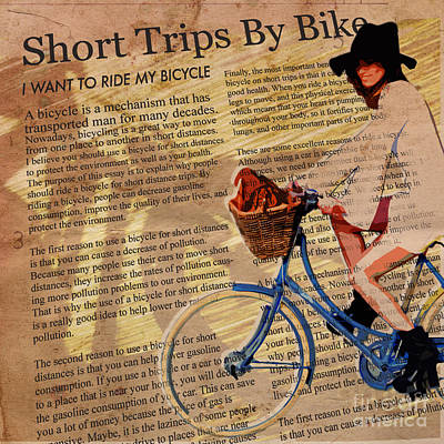 Bike In Style Print by Sassan Filsoof