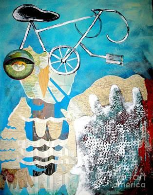 Bike Owl Print by Amy Sorrell