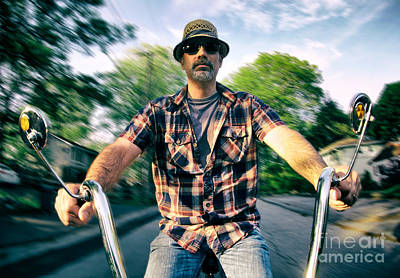 Self Portrait Photograph - Bike Ride by Mark Miller