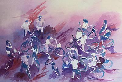 Bike Tour Print by Jenny Armitage