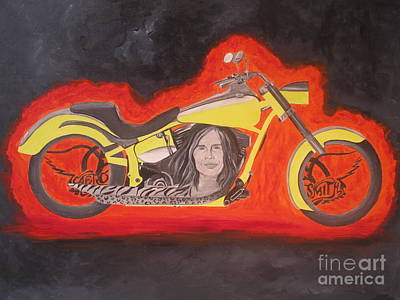 Aerosmith Painting - Biker by Jeepee Aero